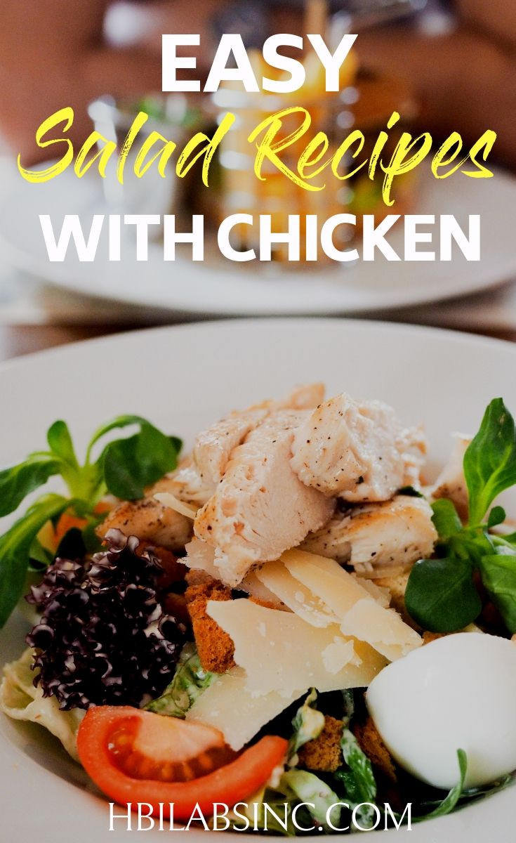 Get the most out of your next meal with some easy salad recipes with chicken that will fill you up with healthy nutrients. Healthy Chicken Recipes | Healthy Salad Recipes | Weight Loss Salad Recipes | Weight Loss Chicken Recipes | Weight Loss Recipes #salad #recipes