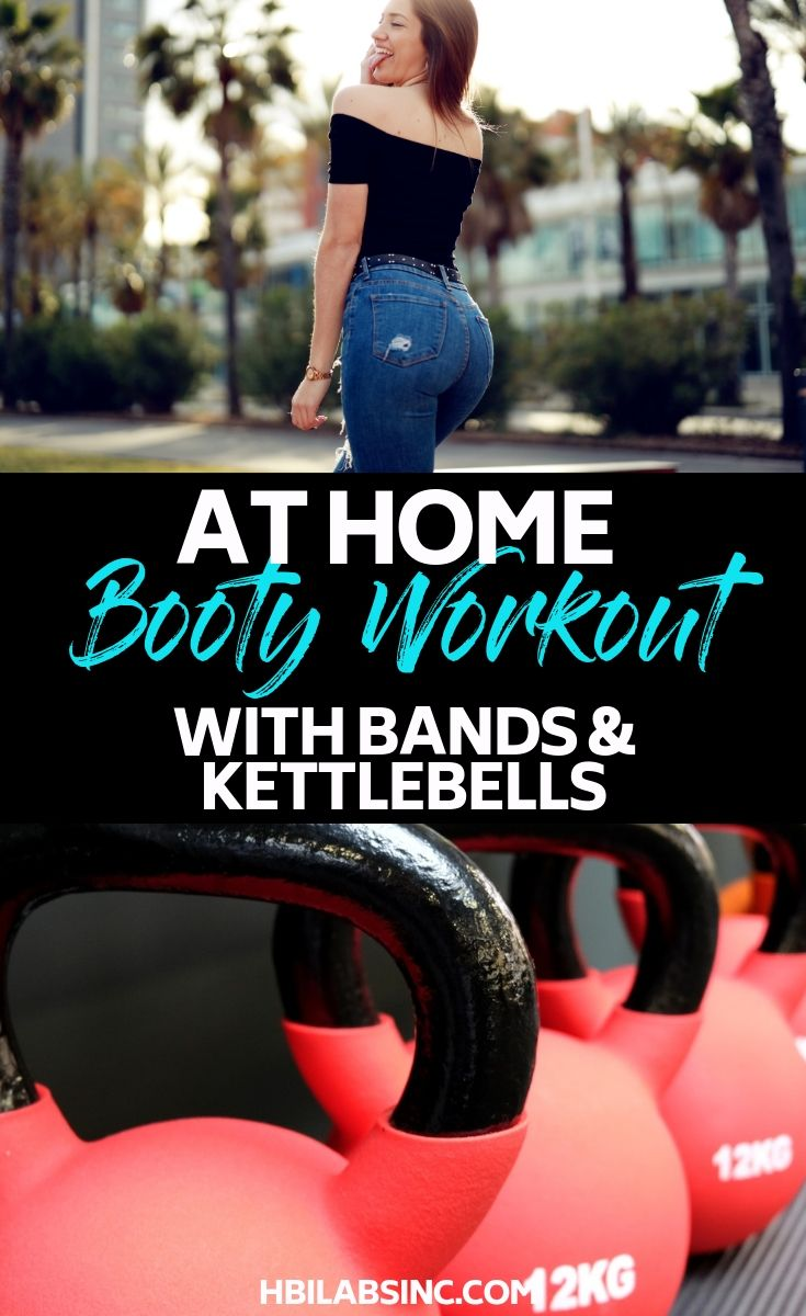 Need a fun at-home booty workout with bands and kettlebells that are guaranteed to build your glutes while revving up your metabolism? At Home Workouts | Workout Rotations | Booty Workouts | Kettlebell Workouts | Exercise Band Workouts | Strength Training Workouts #workout #fitness