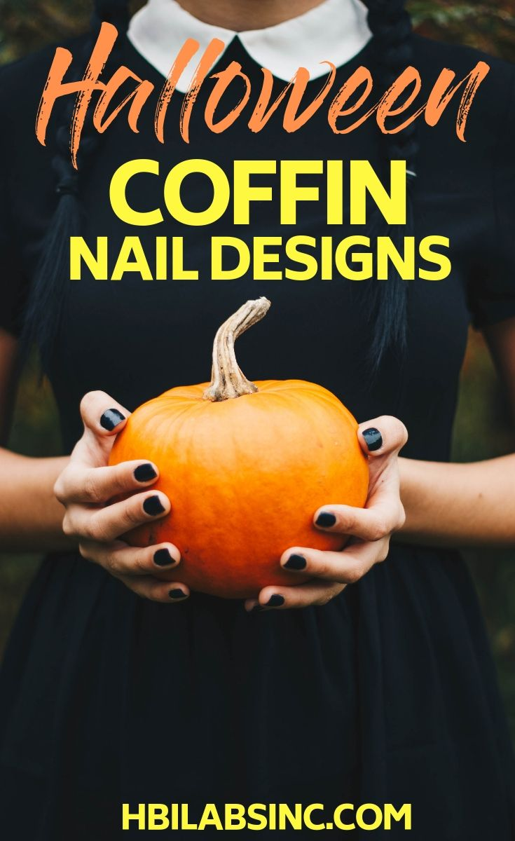 You can use Halloween coffin nails designs to add a bit of spooky beauty to every outfit you wear during the fall season. Halloween Nail Ideas | Spooky Nail Ideas | Tips for Halloween Nails | Halloween Nail Designs #nailart #halloween