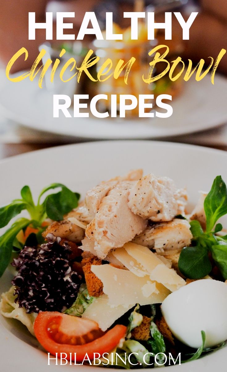 Healthy chicken bowl recipes are not only great for weight loss but as healthy meals for the entire family. They make meal prep easy as well! Healthy Recipes for Families | Healthy Dinner Recipes | Healthy Lunch Recipes | Easy Recipes with Chicken #healthy #recipes