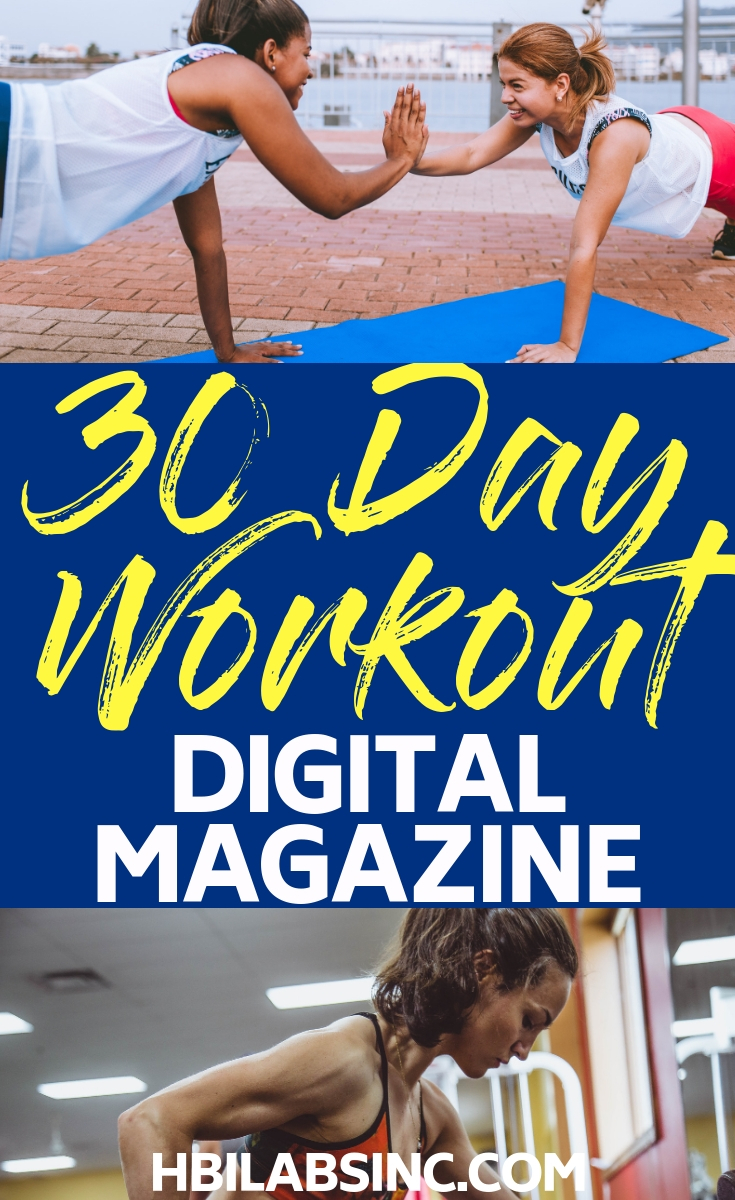 This effective workout and meal plan digital magazine will help you plan meals, track your food, and help you lose weight with effective daily workouts and exercises. Women's Health Tips | Workouts for Women | Fitness ebooks | Meal Planning | Weight Loss Tips | 30 Day Workouts