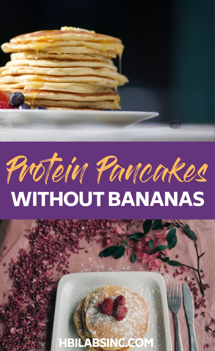 No banana protein pancakes recipes can help you start your day off with some healthy protein without the added carbs of bananas. Breakfast Recipes | Protein Recipes | Healthy Recipes | Healthy Breakfast Recipes | Recipes for Weight Loss | Recipes for Weight Loss #breakfast #healthyrecipes