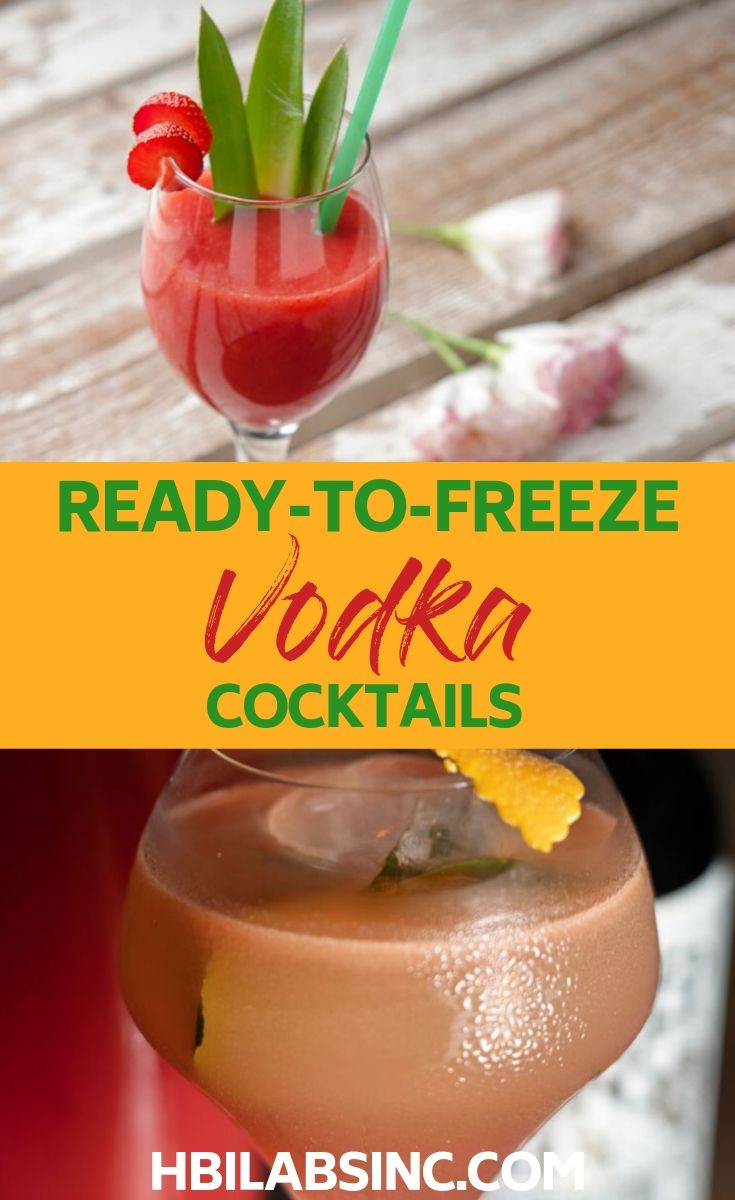 Making ready to freeze vodka cocktails is easy if you have the right recipes that allow the alcohol to freeze. Cocktail Recipes | Happy Hour Recipes | Frozen Cocktail Recipes | Slushie Cocktails | Party Recipes | Party Food #vodka #frozen