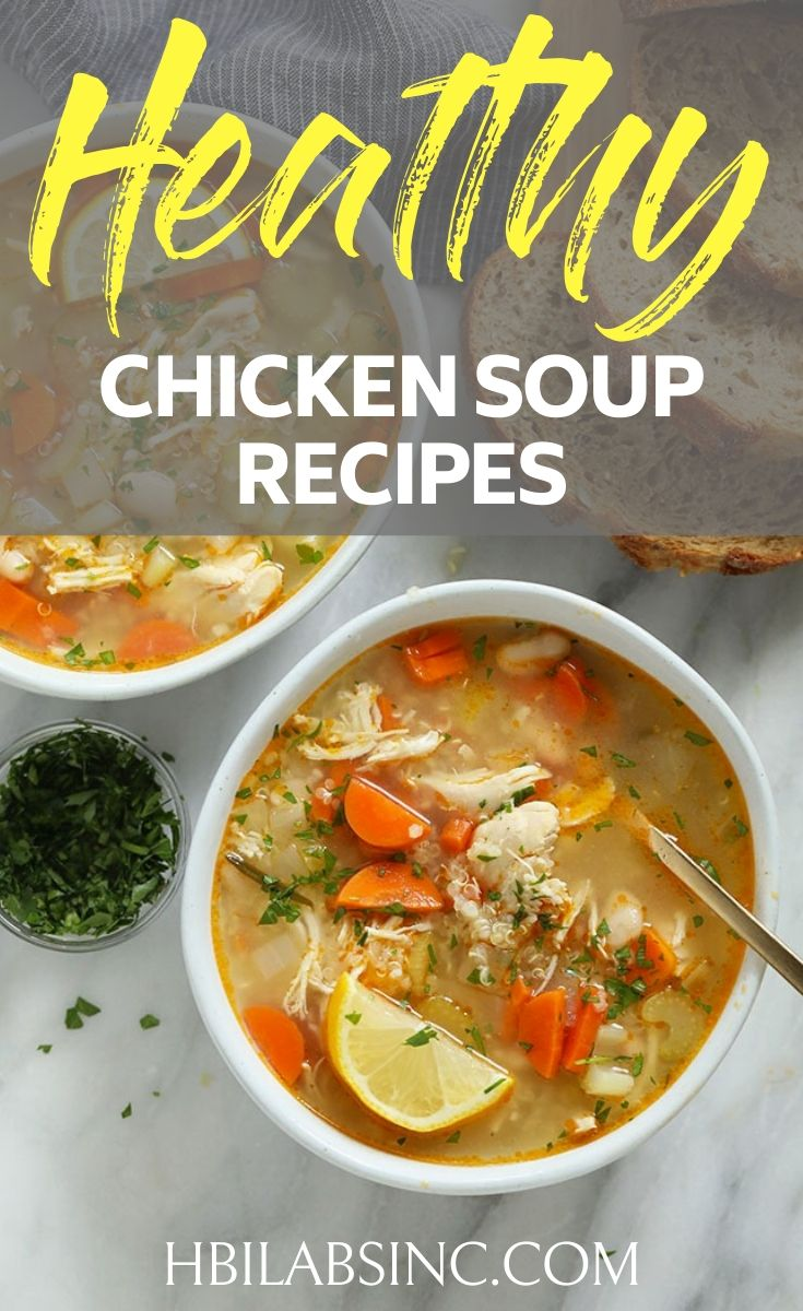 Heat it up at home or keep in warm in a thermos and you can have your healthy soup lunch recipes anywhere you need to go. Healthy Lunch Recipes | Chicken Soup for Weight Loss | Homemade Chicken Soup Recipe from Scratch | Detox Chicken Soup | Chicken Vegetable Soup #soup #recipe