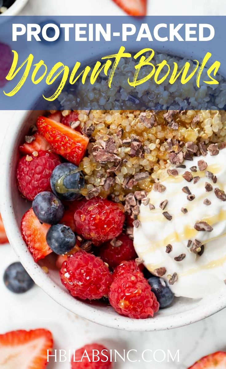 A nutrition-packed yogurt bowl is a great way to start your morning and these protein yogurt bowl recipes are easy to make and delicious. Healthy Breakfast Recipes | Healthy Snack Recipes | Healthy Yogurt Recipes | Yogurt Recipes for Weight Loss | Weight Loss Breakfast Recipes | Healthy Weight Loss Recipes #yogurtbowl #healthy