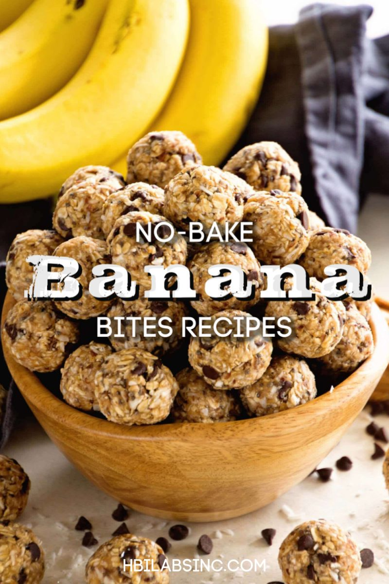 No bake banana bites recipes are much easier to make than banana bread recipes and much healthier for you as well. Now you know what to do with overripened bananas. Healthy Snack Recipes | Healthy Energy Bites | Energy Balls Recipes | No bake Energy Balls Recipes | No Bake Protein Balls #healthy #recipe