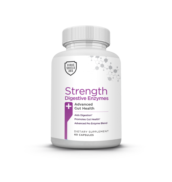 Virus Shield 365 Strength Digestive Enzymes FIght the Flu and Viruses