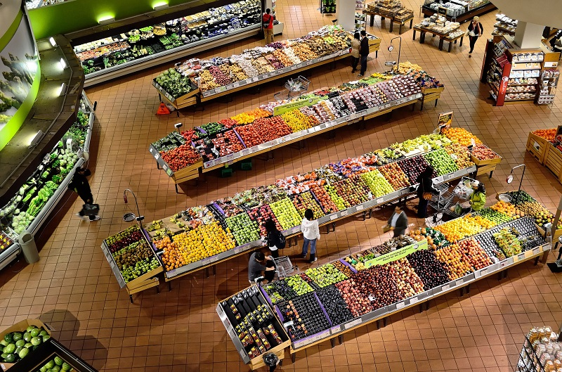 Tips to Lose Weight Quickly Overhead View of a Produce Section