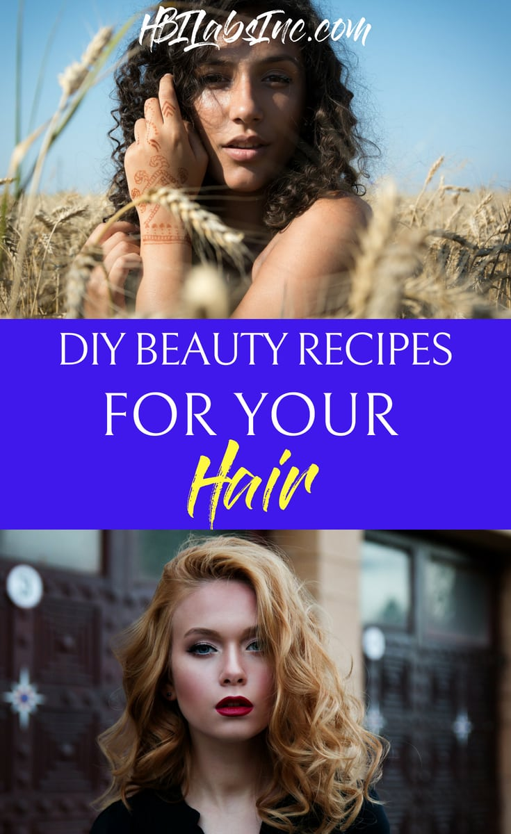 When you use DIY beauty recipes for your hair, you can rest assured that every ingredient is natural and healthy for your beauty routines. Best Hair Products | DIY Hair Products | DIY Beauty Products | DIY Products for Your Hair #beauty #DIY #recipes #haircare #hairtips