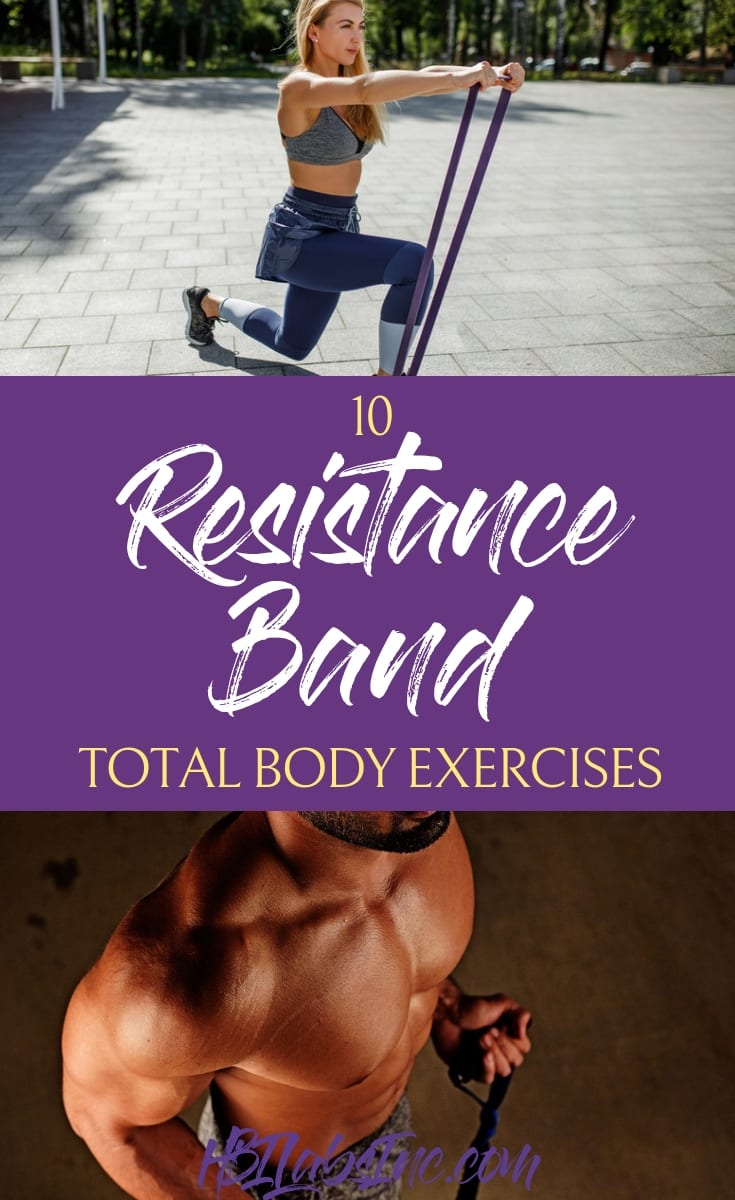The best total body resistance band exercises will give you the toned body you've always wanted and challenge you to engage your entire body. #exercises #fitness #health | Resistance Band Exercises | Best Resistance Band Workouts | Beginner Resistance Band Workouts