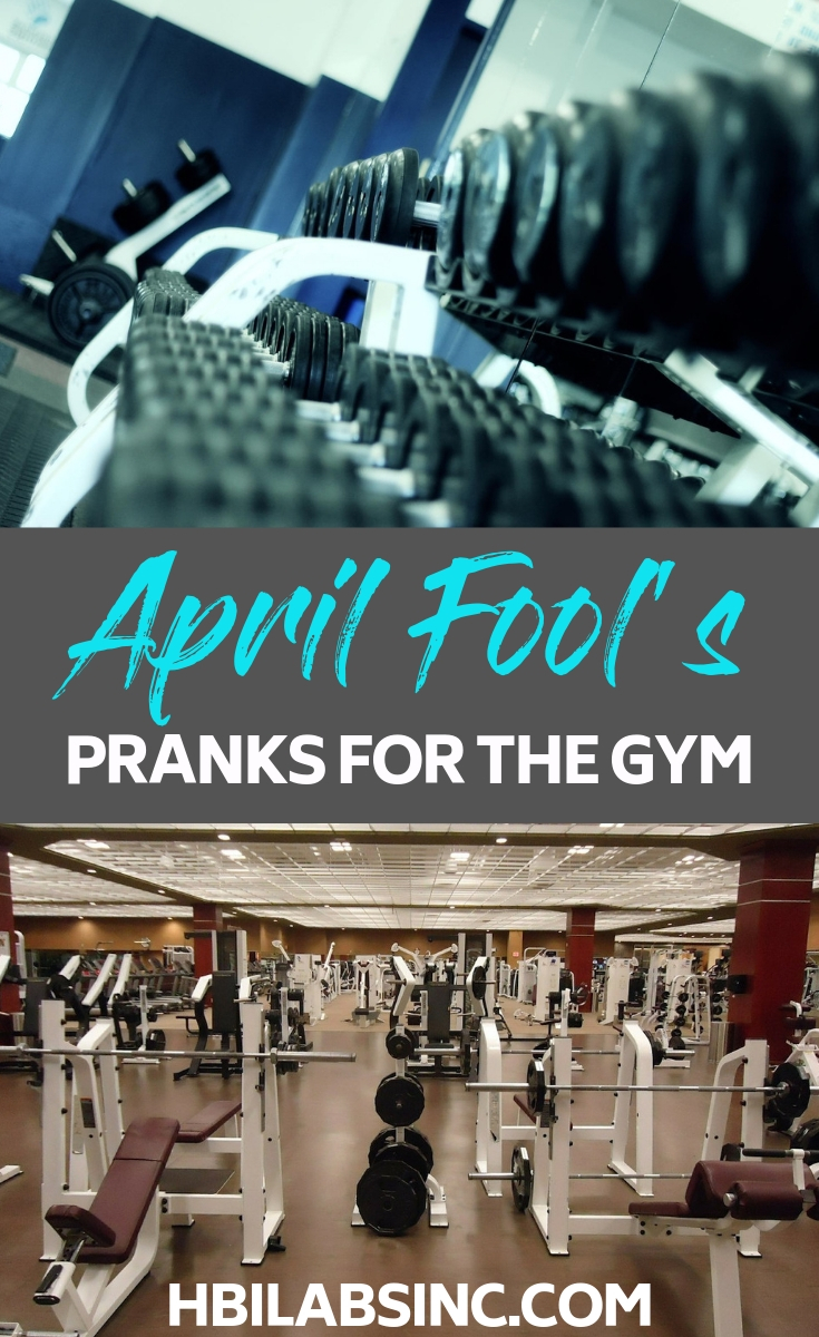 Bring the fun of April Fools pranks for the fitness addict into the gym and add to your workout. April Fool Ideas | Gym Prank Ideas | Fitness Prank Ideas | Funny Gym Ideas