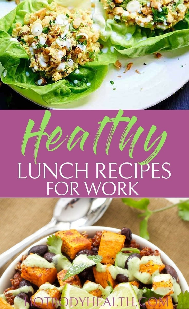 Make one of these lunch recipes for work that are filled with nutrients to keep you energized and on track with your diet. Best Healthy Lunch Recipes | Easy Lunch Recipes | Best Lunch Recipes for Work | Lunch Recipes for work
