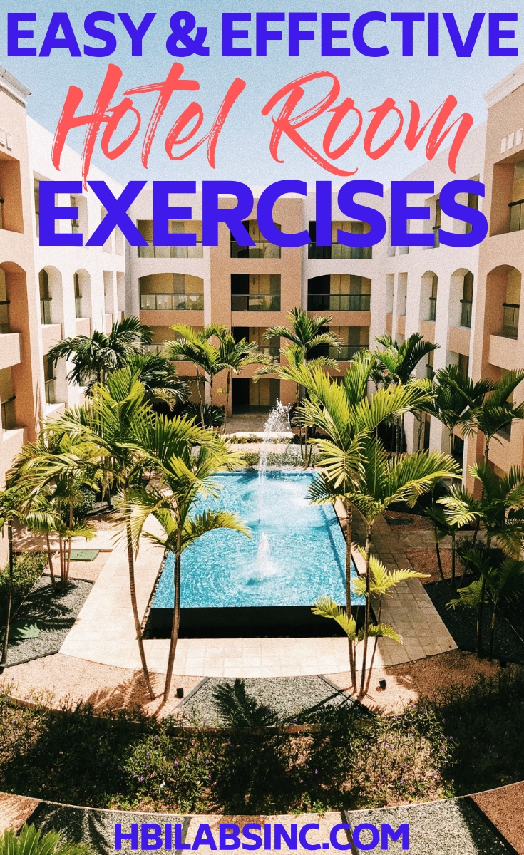 You won't even need to leave your hotel room when you have access to the best hotel room exercises to keep you fit while you travel. Workout Ideas | Travel Workouts | Travel Tips | Travel Fitness Tips | Healthy Travel Tips #travel #fitness
