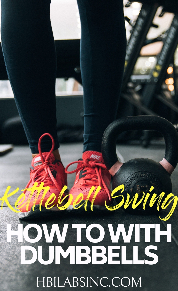 A dumbbell swing can be performed very much like the kettlebell swing as long as you know how to properly do a kettlebell swing with a dumbbell. Workout Ideas | Exercise Ideas | Dumbbell Workouts | Kettlebell Workouts | Dumbbell Exercises | Dumbbell Exercises #fitness #workout