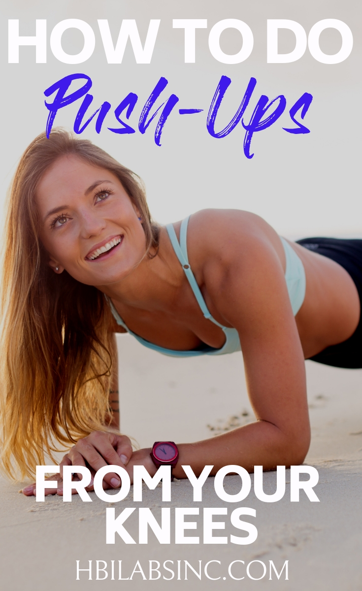 There are many ways to do a push-up and knowing how to correctly do a push-up from your knees will help you avoid injury and tone up! Tips for Workouts | Chest Workoutss | Arm Workouts | Tips for Push Ups #fitness #workout