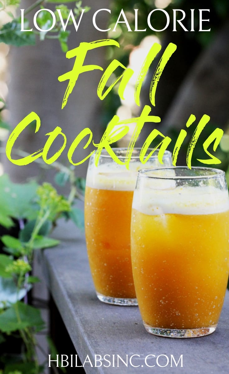 Enjoy the best low calorie fall cocktails this season as you sit by the fire on a cool evening. Fall Cocktail Recipes | Low Calorie Cocktails | Weight Loss Recipes | Low Cal Cocktails #cocktails