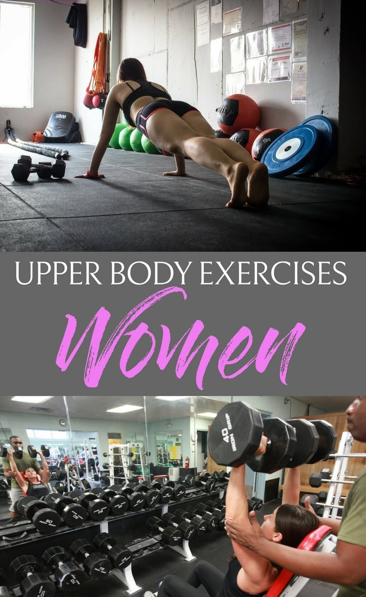 Get sexy toned arms with these upper body exercises for women so you can wear tank tops, strapless dresses, and enjoy the warm weather with confidence. #workout #upperbody #women #workoutsforwomen #chest #back #arm #fitness #womensfitness