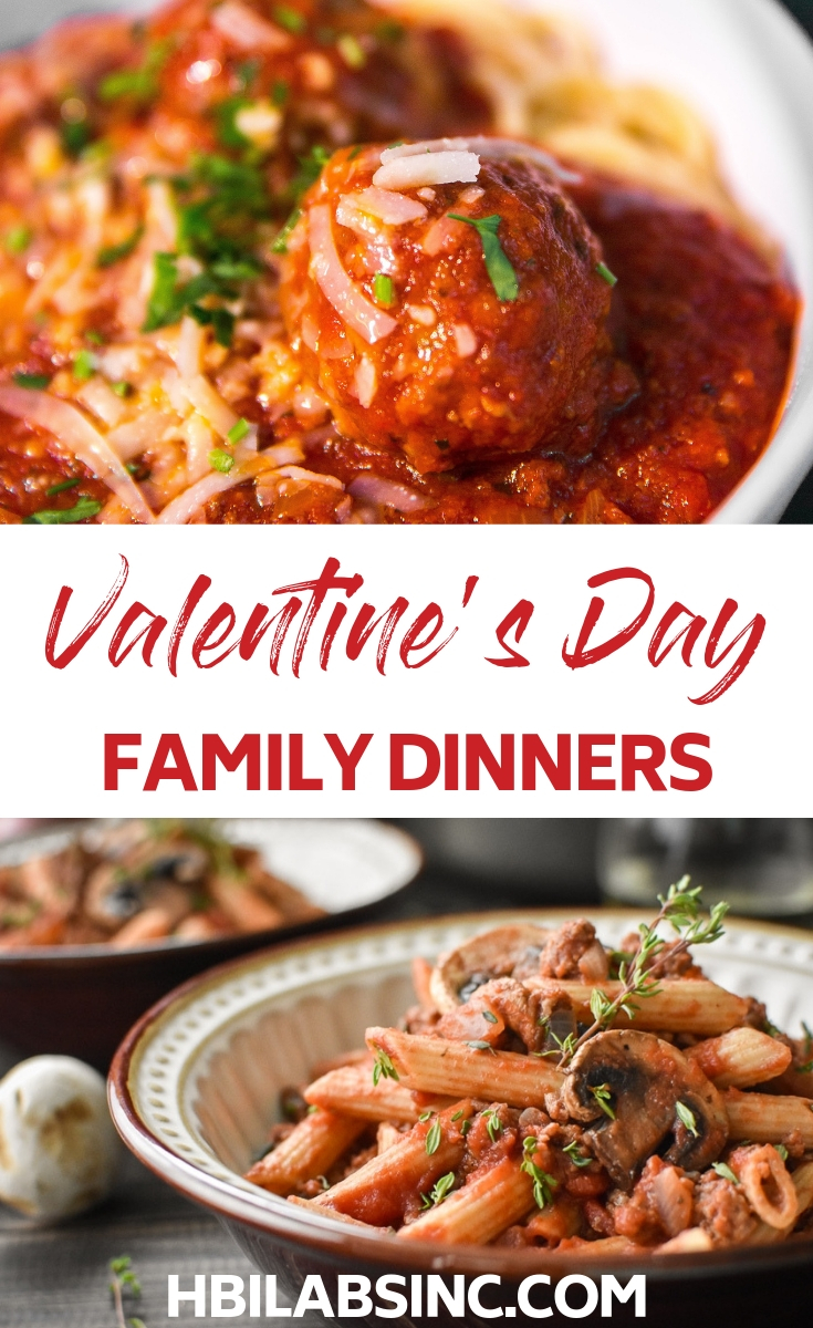 Show your love with the best Valentine's Day dinner recipes for the family. Everyone will enjoy the food and the time together! Valentine's Day Recipes | Valentine's Day Ideas | Valentine's Day Treats | Dinner Recipes | Family Dinner Ideas